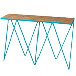 &New Giraffe console table, OSB/turquoise