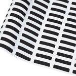 Artek Siena pinnoitettu kangas, 145 x 300 cm, valkoinen - musta