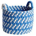 Hay Bead kori kahvoilla, 40 cm, sininen - valkoinen