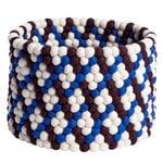Hay Bead basket, 40 cm, burgundy basket weave
