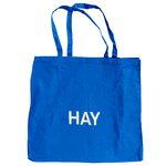 HAY Blue tote bag, L, white logo