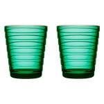 Iittala Aino Aalto tumbler 22 cl, 2 pcs, emerald
