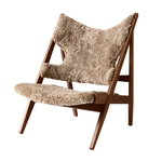 Menu Knitting Chair nojatuoli, pähkinä - lampaantalja Cork 19