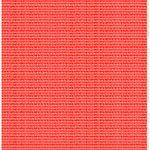 Marimekko Alku coated fabric, white - red