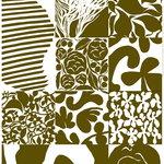 Marimekko Ruudut paksu puuvillakangas, ylijäämäväri - valkoinen