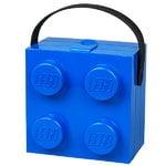 Room Copenhagen Contenitore portapranzo Lego con manico, blu
