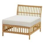 Sika-Design Maggie Exterior center module sofa, natural - white cushion