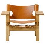 Fredericia The Spanish Chair nojatuoli, konjakki nahka - lakattu tammi
