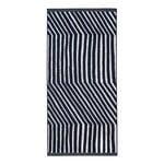 Marimekko Kalasääski bath towel, dark blue - off white