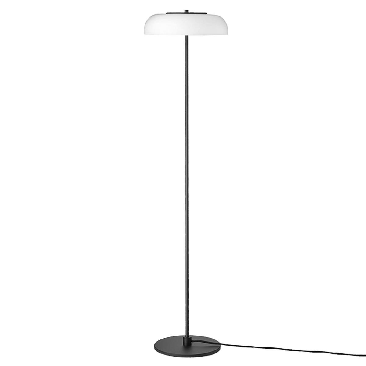 Nuura Blossi Floor Lamp 29 Cm, Satin Black - Opal White