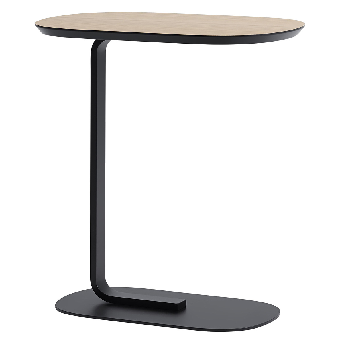 Muuto Relate side table, oak - black  Finnish Design Shop