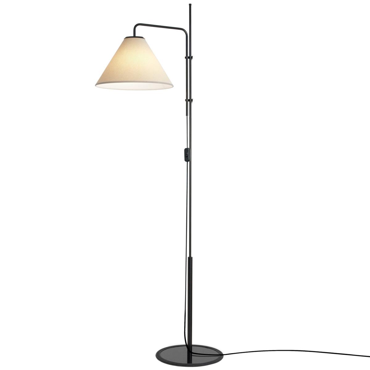Marset Funiculi Fabric Floor Lamp, Black - Sand