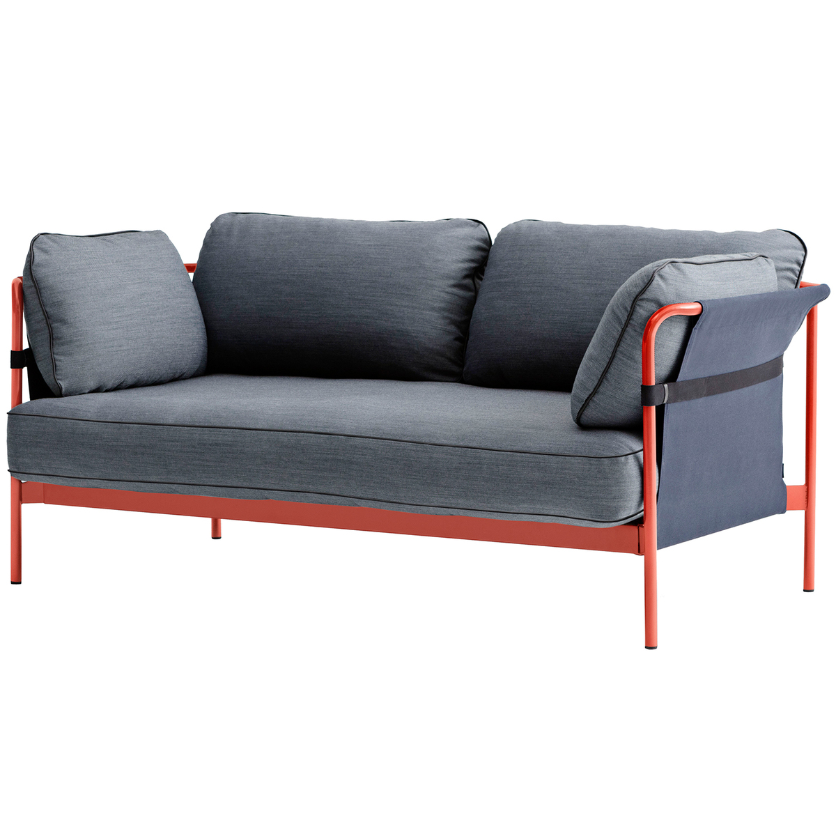 Hay Can sofa 2 seater red blue frame Surface 990