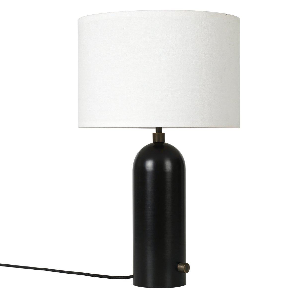 Gubi gravity table lamp small black steel finnish design shop