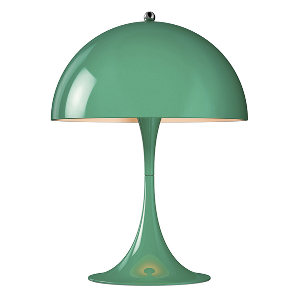 Louis Poulsen Panthella Mini table lamp, blue-green | Finnish ...