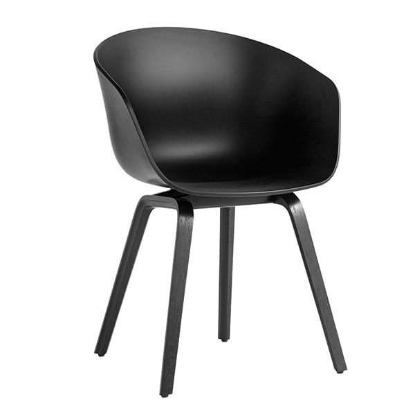Hay About A Chair AAC22 tuoli, soft black - petsattu tammi