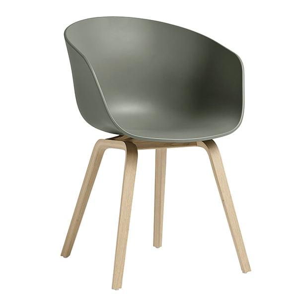 Hay About A Chair AAC22 tuoli, dusty green - mattalakattu tammi