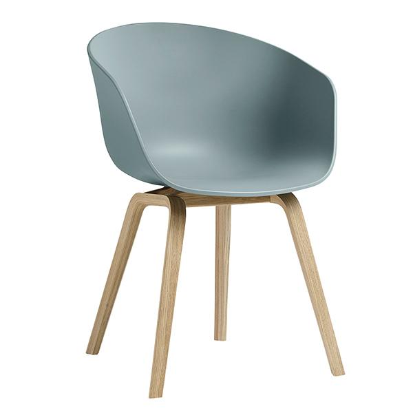 Hay About A Chair AAC22 tuoli, mattalakattu tammi - dusty blue