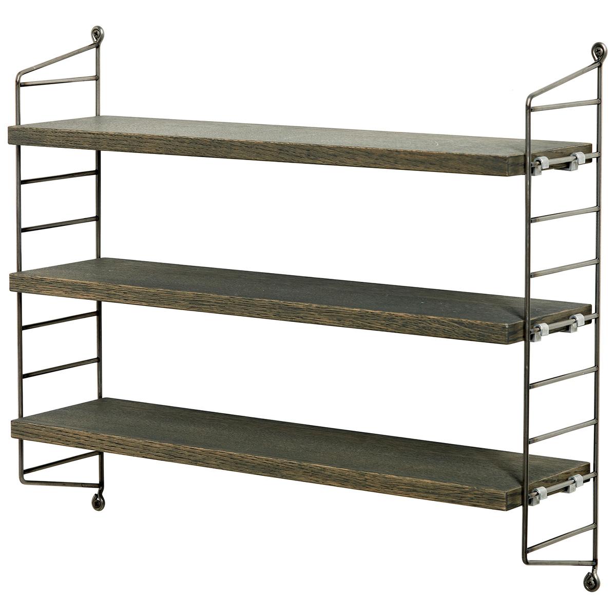 String Pocket Shelf Fds 15 Years Grey Oak Raw Metal