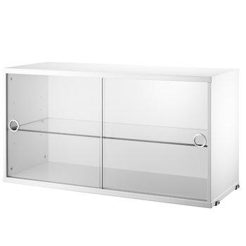 String String display cabinet, white
