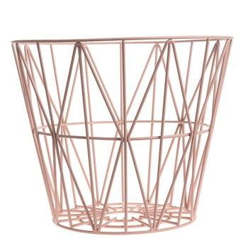 Ferm Living Wire basket, rose