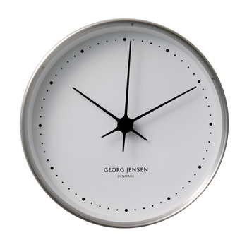 Georg Jensen HK Clock stainless steel, medium