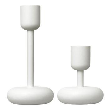 Iittala Nappula kynttilänjalka, valkoinen, 2 kpl