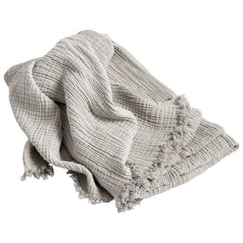 Hay Crinkle throw, silver