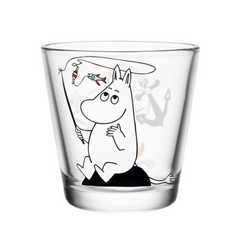 Iittala Moomin glass 21 cl, Moomintroll fishing