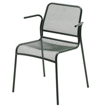 Skagerak Mira tuoli käsinojilla, vihreä