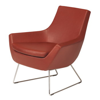 Swedese Happy easy chair low back, brown leather