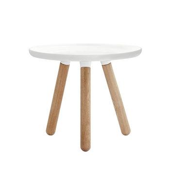 Tablo pöytä pieni, kiiltävä valkoinen