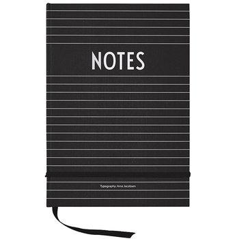 Design Letters Notebook, black