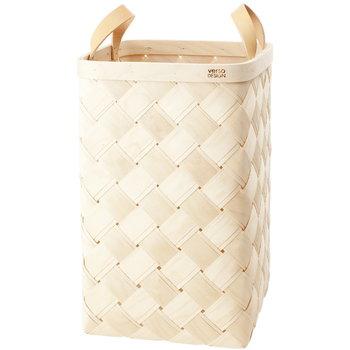 Verso Design Lastu birch basket XL, leather handles