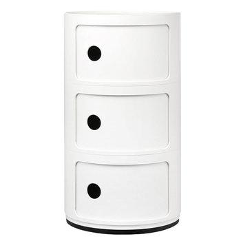 Kartell Componibili storage unit, 3 modules, white