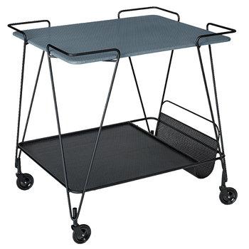 Gubi Mategot trolley, blue grey