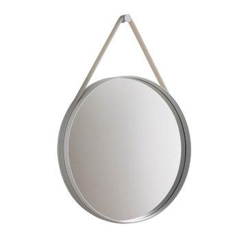 Hay Strap mirror small, grey