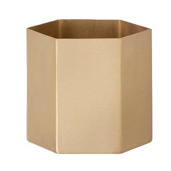 Ferm Living Hexagon pot L, brass