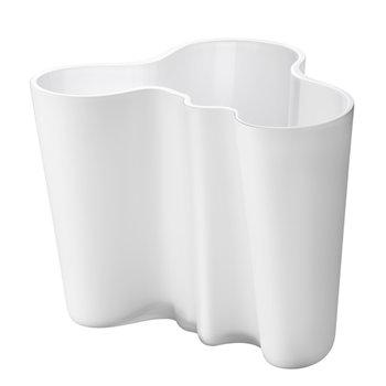 Aalto maljakko 160 mm, valkoinen