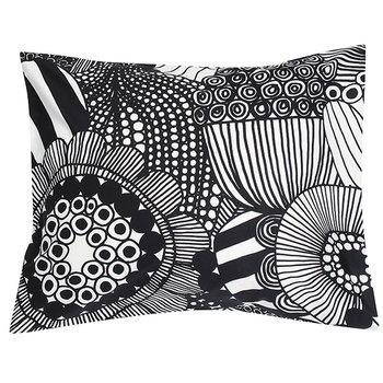 Marimekko Siirtolapuutarha pillowcase, black-white