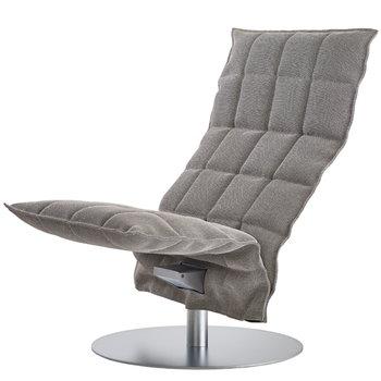 Woodnotes K chair, swivel, narrow, stone-black