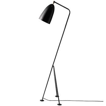 Gubi Gräshoppa floor lamp, jet black