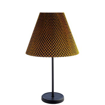 Accordion Shade Table Lamp, Fish Scale