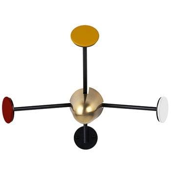 Gubi Matégot coatrack, brass-red