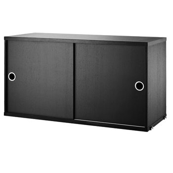 String String cabinet, black stained ash