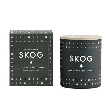 Skandinavisk Scented candle with lid, SKOG