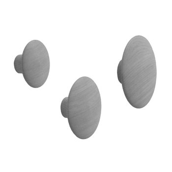 Muuto The Dots single hook, grey