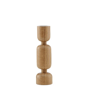 normann copenhagen lumberjack candleholder medium oak. Black Bedroom Furniture Sets. Home Design Ideas