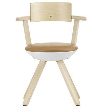 Artek Rival chair KG002, birch/leather