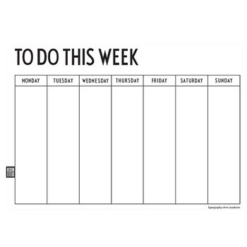 Design Letters Weekly Planner